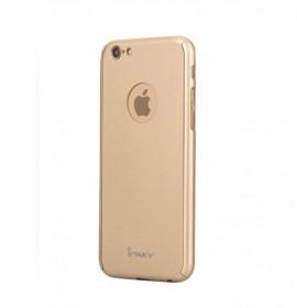 Husa Apple iPhone 6/6S, FullBody Elegance Luxury iPaky Gold , acoperire completa 360 grade cu folie de sticla gratis