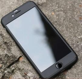 Husa Apple iPhone 6 Plus/6S Plus, FullBody Elegance Luxury iPaky Black, acoperire completa 360 grade cu folie de sticla gratis