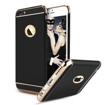 Husa Apple iPhone 8 Plus, Elegance Luxury 3in1 Negru