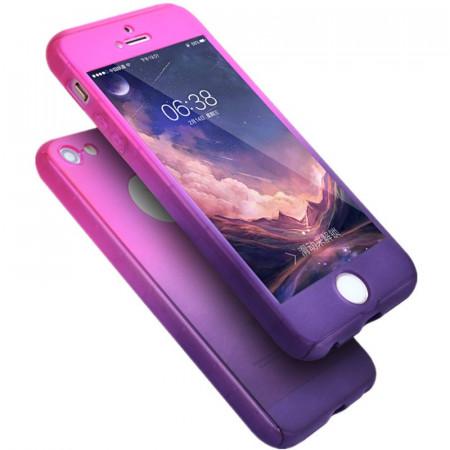 Husa Apple iPhone SE2, FullBody Elegance Luxury Degrade, acoperire completa 360 grade cu folie de sticla gratis