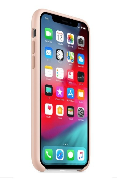 Husa Apple iPhone X, Silicon antisoc, Roz / Pink Sand