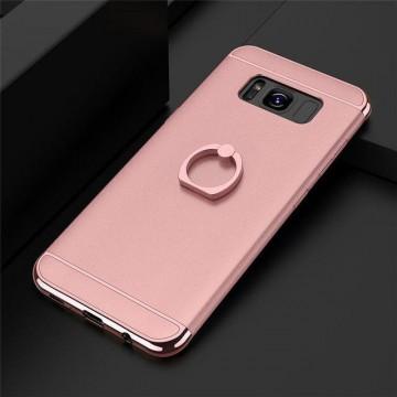 Husa Samsung Galaxy S8 Plus, Elegance Luxury 3in1 Ring Rose-Gold