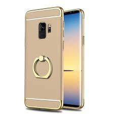 Husa Samsung Galaxy S9, Elegance Luxury 3in1 Ring Auriu