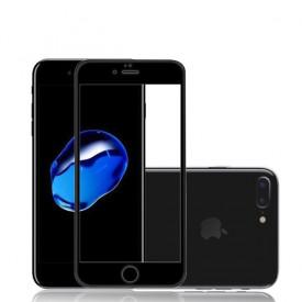 Folie de sticla Apple iPhone 7, Elegance Luxury margini colorate Black