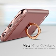 Husa Apple iPhone 6 Plus/6S Plus, Elegance Luxury 3in1 Ring Rose-Gold