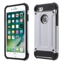 Husa Apple iPhone 7 Plus,Elegance Luxury tip Armour Strong Silver