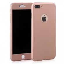 Husa Apple iPhone 8 Plus, FullBody Elegance Luxury Rose-Gold, acoperire completa 360 grade cu folie de sticla gratis