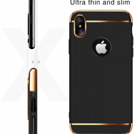 Husa Apple iPhone X, Elegance Luxury 3in1 Negru