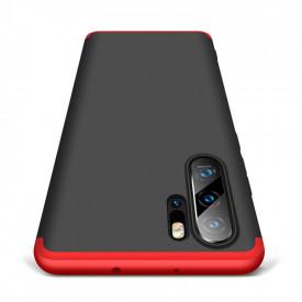 Husa Huawei P30 PRO, Elegance Luxury, 360° 3in1 Negru-Rosu