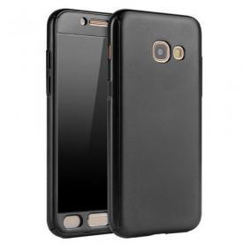 Husa Samsung Galaxy A5 2017, FullBody Black, acoperire completa 360 grade cu folie de sticla gratis
