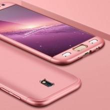 Husa Samsung Galaxy J5 2017, FullBody Elegance Luxury Rose-Gold, acoperire completa 360 grade cu folie de sticla gratis