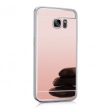 Husa Samsung Galaxy S6 Edge, Elegance Luxury tip oglinda Rose-Gold