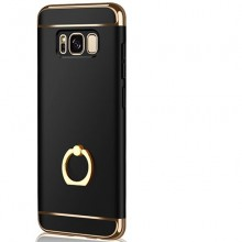 Husa Samsung Galaxy S8, Elegance Luxury 3in1 Ring Negru