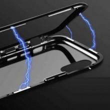 Husa Samsung Galaxy S8 , Magnetica Negru, Perfect Fit cu spate de sticla securizata premium