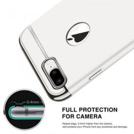 Pachet husa Elegance Luxury 3in1 Ultrasubtire Silver pentru Apple iPhone 7 Plus cu folie de sticla gratis