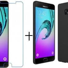 Pachet husa Elegance Luxury slim antisoc Black pentru Samsung Galaxy A5 2017 cu folie de protectie gratis