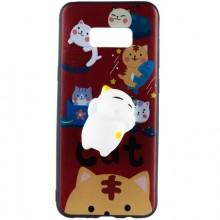 Pachet husa Elegance Luxury Squishy Red pentru Samsung Galaxy S8 cu folie de protectie gratis
