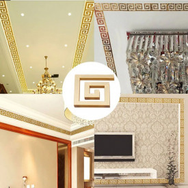 Set Oglinzi Design Versace - Oglinzi Decorative Acrilice Gold Plated - MyStyle Luxury Home 12 bucati/set