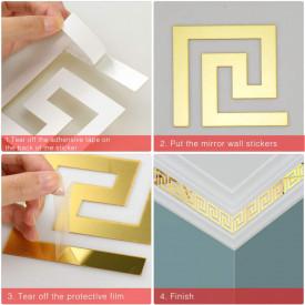 Set Oglinzi Design Versace - Oglinzi Decorative Acrilice Gold Plated - Luxury Home 24 bucati/set