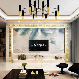Set Oglinzi Design Versace - Oglinzi Decorative Acrilice Gold Plated - Luxury Home 10 bucati/set