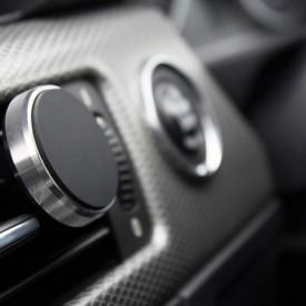 Suport auto magnetic de culoare argintie pentru telefoane mobile, prindere la ventilatie