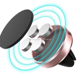 Suport auto magnetic de culoare rose-gold pentru telefoane mobile, prindere la ventilatie