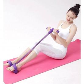 Banda elastica multifunctionala tonifiere brate /abdomen / piept / picioare Violet/Mov