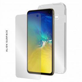 Folie Alien Surface HD, Samsung GALAXY S10e fata, spate, laterale + Alien Fiber Cadou