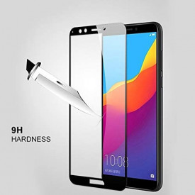Folie de sticla Huawei Y6 2018, 9D FULL GLUE Negru