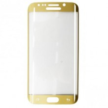 Folie de sticla Samsung Galaxy S6 Edge, Elegance Luxury margini curbate colorate Gold