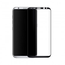 Folie de sticla Samsung Galaxy S8 , Elegance Luxury margini curbate colorate Black