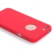 Husa Apple iPhone 5/5S/SE, FullBody Red, acoperire completa 360 grade cu folie de sticla gratis