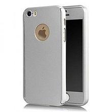 Husa Apple iPhone 5/5S/SE, FullBody Silver, acoperire completa 360 grade cu folie de sticla gratis