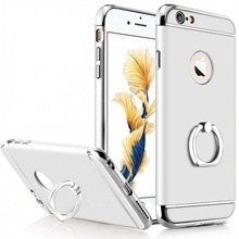 Husa Apple iPhone 6/6S , Elegance Luxury 3in1 Ring Silver