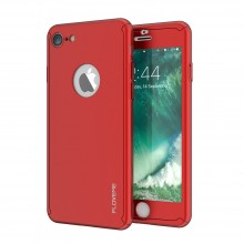 Husa Apple iPhone 6/6S, FullBody Elegance Luxury Red, acoperire completa 360 grade cu folie de sticla gratis