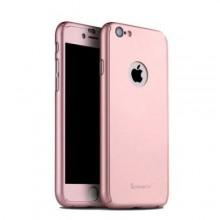 Husa Apple iPhone 6/6S, FullBody MyStyle iPaky Rose-Gold , acoperire completa 360 grade cu folie de sticla gratis