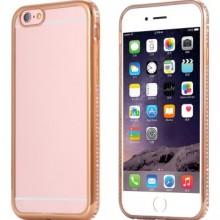 Husa Apple iPhone 6/6S, MyStyle electroplacata cu diamante Auriu