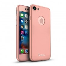 Husa Apple iPhone 6 Plus/6S Plus, FullBody Elegance Luxury iPaky Rose-Gold , acoperire completa 360 grade cu folie de sticla gratis