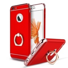 Husa Apple iPhone 7, Elegance Luxury 3in1 Ring Red