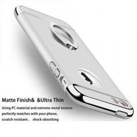 Husa Apple iPhone 7, Elegance Luxury 3in1 Ring Silver