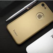 Husa Apple iPhone 8, FullBody Elegance Luxury iPaky Gold, acoperire completa 360 grade cu folie de sticla gratis