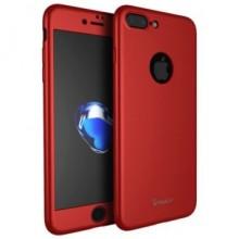 Husa Apple iPhone 8 Plus, FullBody Elegance Luxury iPaky Rosu, acoperire completa 360 grade cu folie de sticla gratis