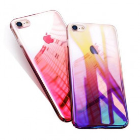 Husa Apple iPhone SE2, Gradient Color Cameleon Roz / Pink