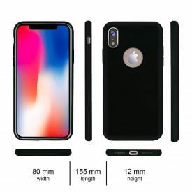 Husa Apple iPhone XR, Elegance Luxury, Silicon TPU Slim Antisoc NEGRU