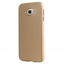 Husa FullBody Elegance Luxury Gold pentru Samsung Galaxy J7 2016 acoperire completa 360 grade cu folie de protectie gratis