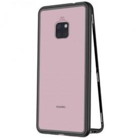 Husa Huawei MATE 20 PRO Magnetica Black, Perfect Fit cu spate de sticla securizata premium