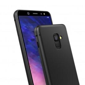 Husa pentru Samsung Galaxy A6 Plus, Perfect Fit , Silicon TPU Negru