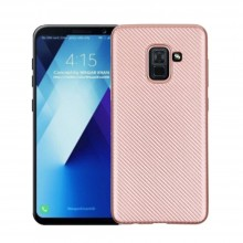 Husa Samsung Galaxy A8, Elegance Luxury Mesh Rose-Gold