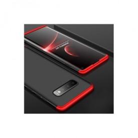 Husa Samsung Galaxy S10 Plus, Elegance Luxury, 360° 3in1 Negru-Rosu