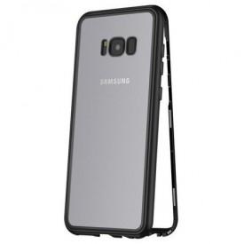 Husa Samsung Galaxy S8 Magnetica 360 grade Black, MyStyle Perfect Fit cu spate de sticla securizata premium + folie de protectie gratis
